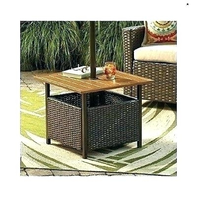 Umbrella Stand Side Table Side Tables Outdoor Umbrella Side Table With Popular Patio Umbrella Stand Side Tables (View 4 of 15)