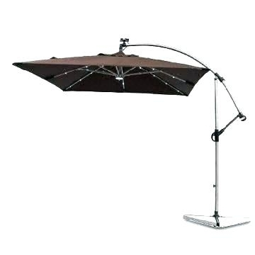 Umbrella With Solar Light Patio Umbrella With Solar Lights Interior Throughout Preferred Patio Umbrellas With Solar Lights (View 15 of 15)