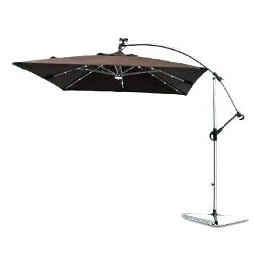Umbrella With Solar Light Patio Umbrella With Solar Lights Interior throughout Preferred Patio Umbrellas With Solar Lights
