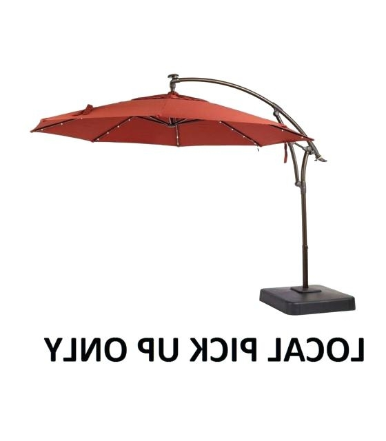 Unique Hampton Bay Patio Umbrella Or Local Pick Up Bay Ft Led Offset In Well Known Hampton Bay Patio Umbrellas (View 8 of 15)