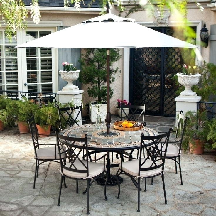 Unique Outdoor Patio Set With Umbrella For Outdoor Furniture Patio throughout Favorite Patio Table And Chairs With Umbrellas
