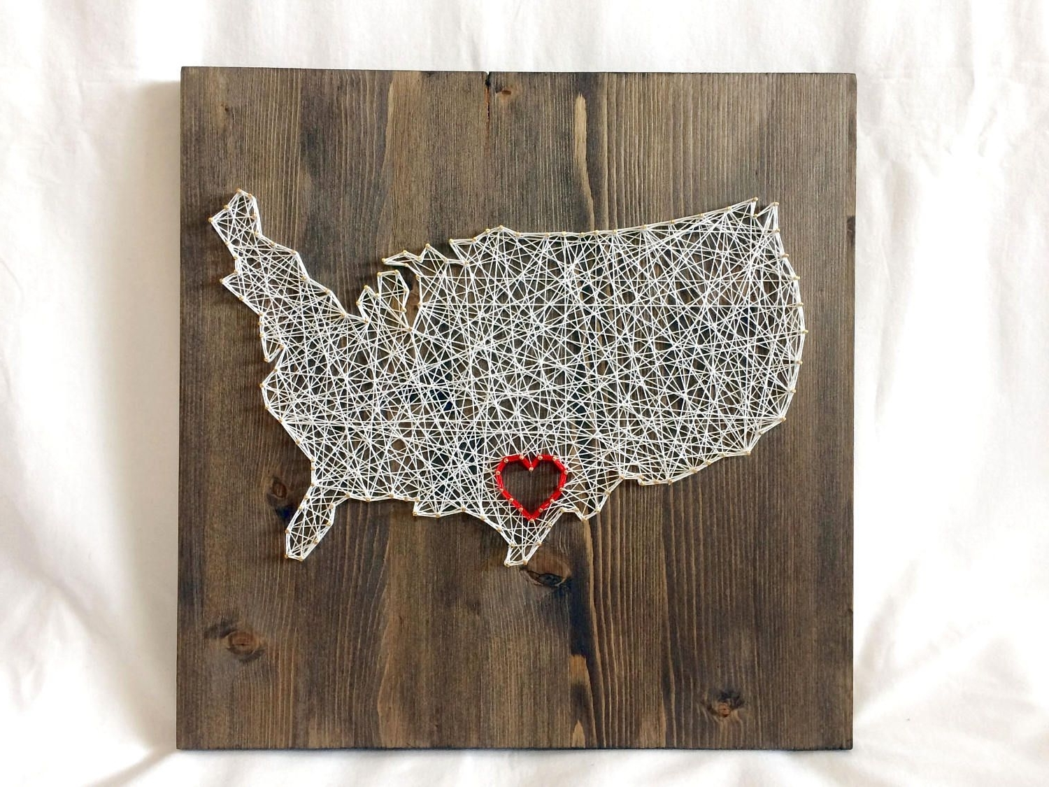 United States For String Map Wall Art (View 14 of 15)