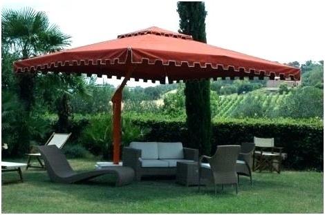 Unusual Patio Umbrellas Regarding 2017 Large Cantilever Patio Umbrellas Umbrella A Unique Garden – Thedailylist (View 15 of 15)