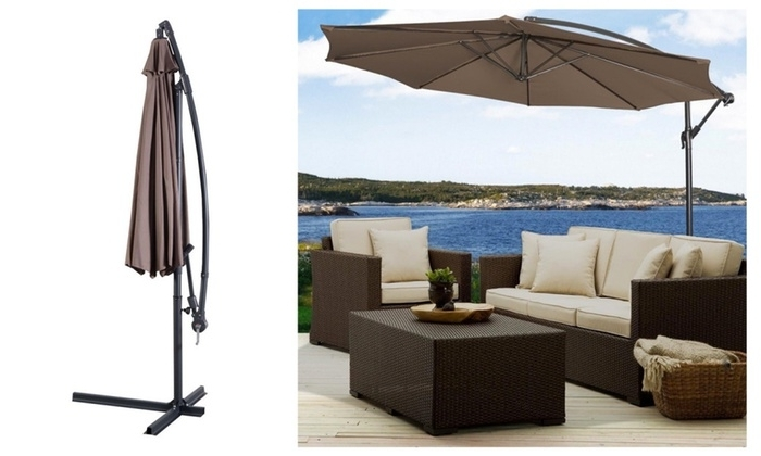 [%Up To 60% Off On Outdoor Patio Umbrella 10' Ft | Groupon Goods Inside 2018 10 Ft Patio Umbrellas|10 Ft Patio Umbrellas With Regard To 2018 Up To 60% Off On Outdoor Patio Umbrella 10' Ft | Groupon Goods|2017 10 Ft Patio Umbrellas Pertaining To Up To 60% Off On Outdoor Patio Umbrella 10' Ft | Groupon Goods|Most Current Up To 60% Off On Outdoor Patio Umbrella 10' Ft | Groupon Goods Intended For 10 Ft Patio Umbrellas%] (View 15 of 15)