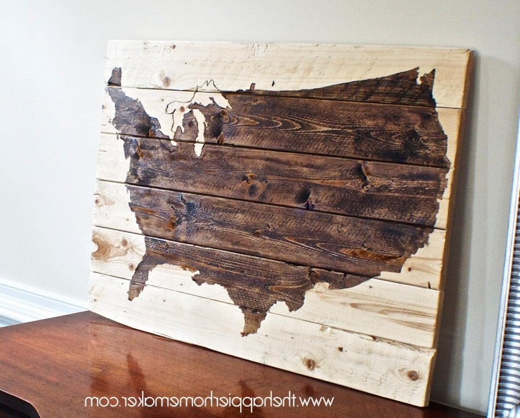 Us Map Canvas Wall Art Cool United States Canvas Wall Art Rustic within Current United States Map Wall Art