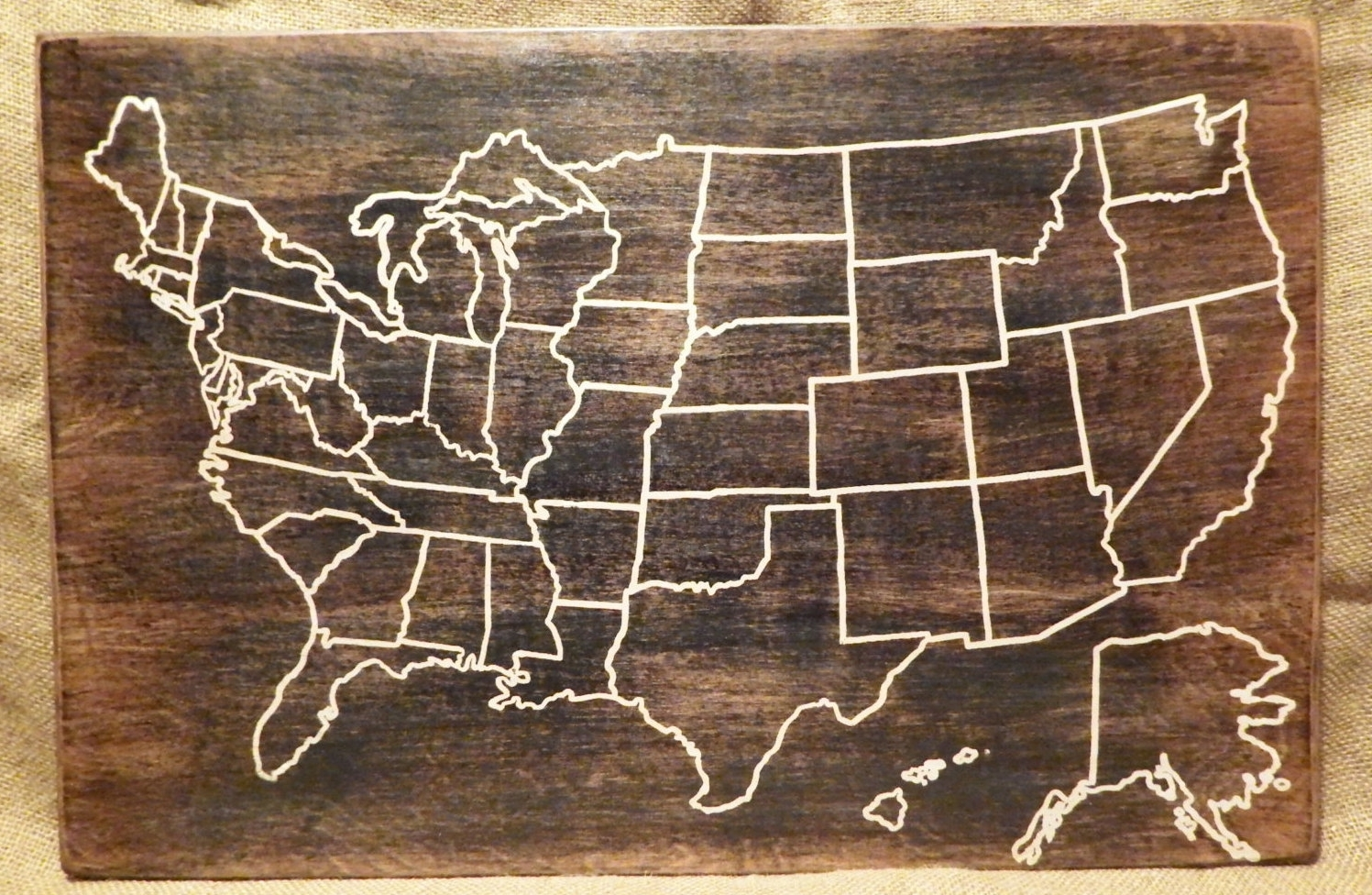 Us Map Wall Art Throughout Most Recently Released Pin Map Of Usa – Goal.goodwinmetals (View 9 of 15)