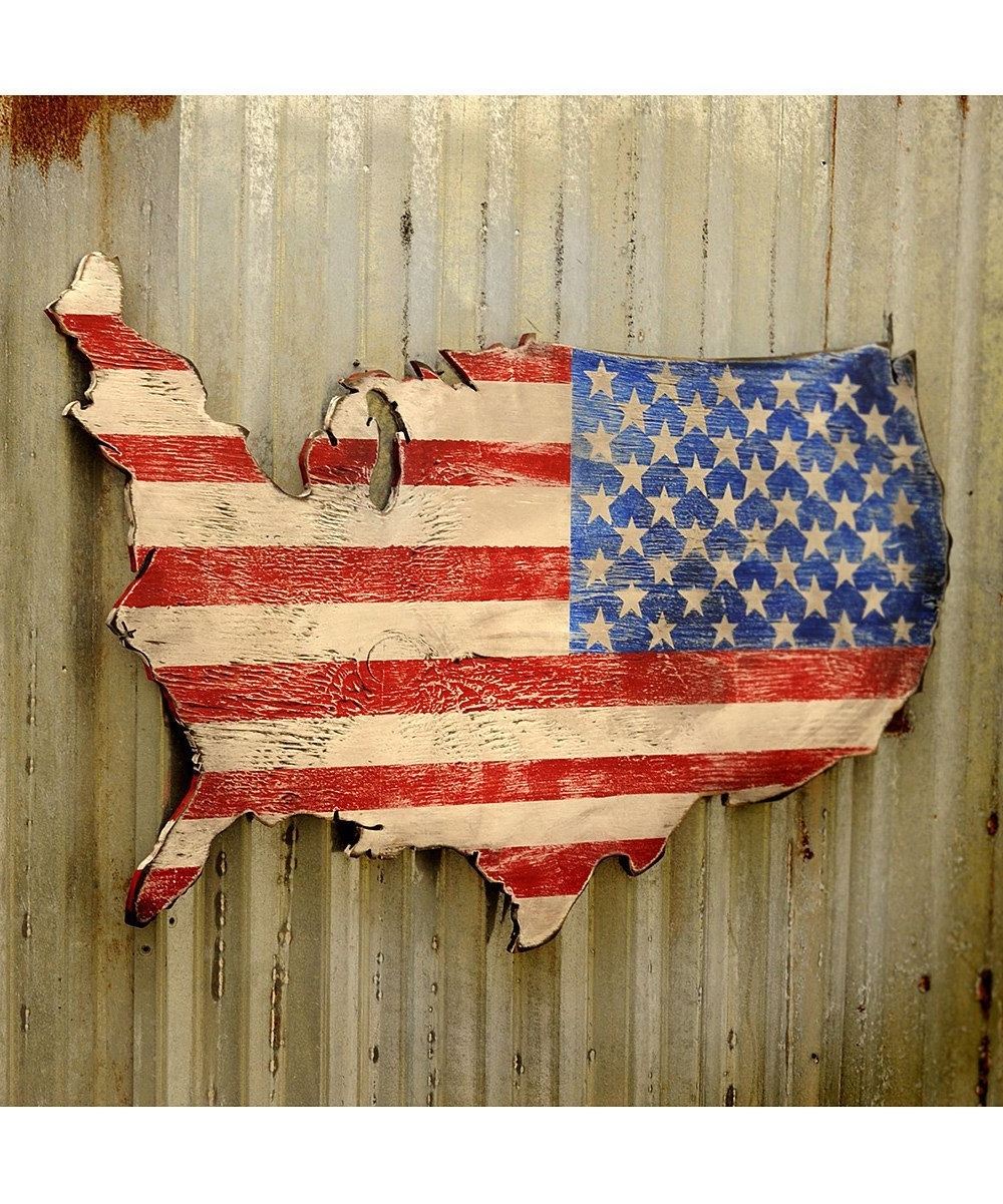 Usa Map Wall Art For 2018 Usa Wooden Flag Map Art Large Us Map Art Wooden Stars And Stripes (View 8 of 15)