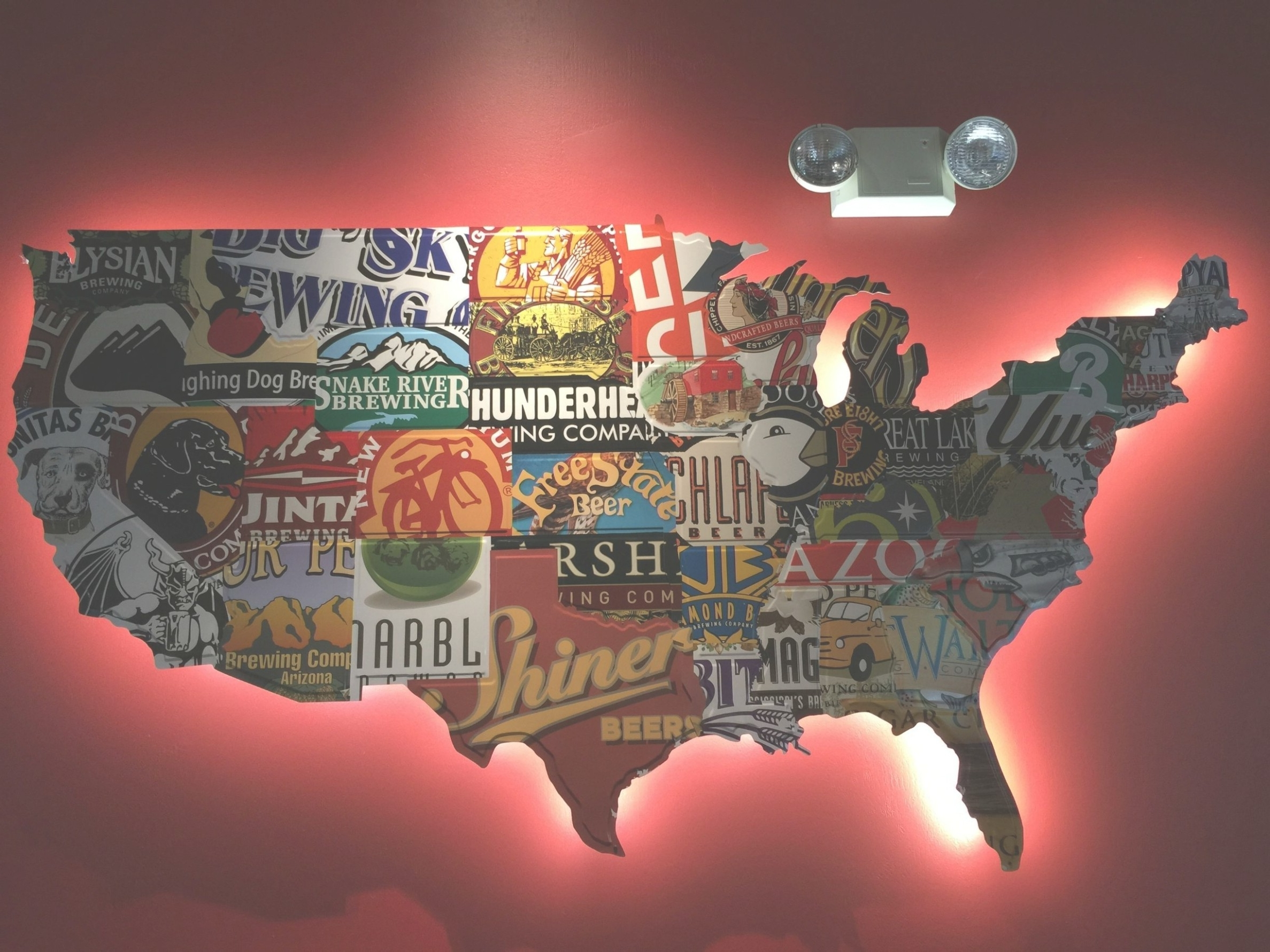 Usa Map Wall Art Inside Famous Wooden Wall Hanging Map Of Us Wooden Usa Map Wall Art Delightful (View 15 of 15)