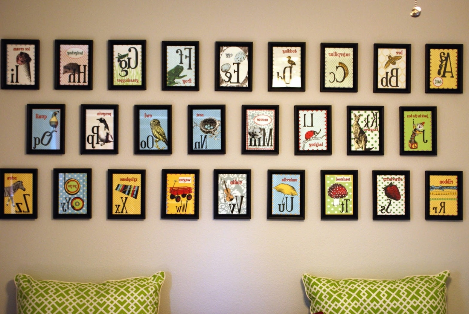 V Sanctuary In Kids Framed Wall Art With Fashionable Alphabet Wall Art (Gallery 7 of 15)
