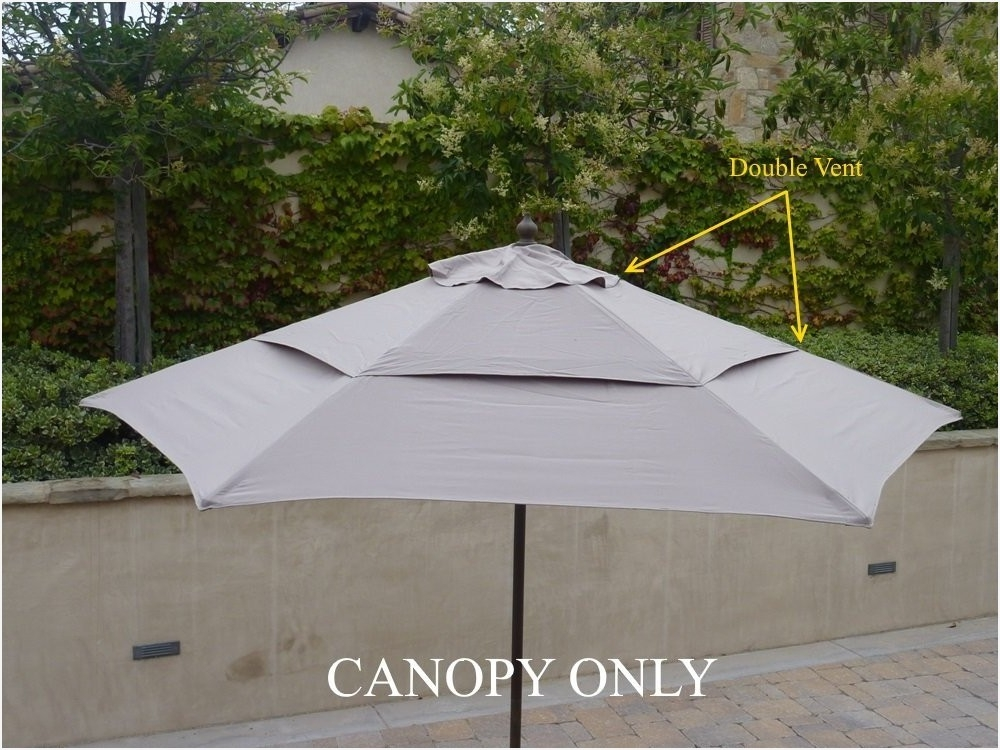 Vented Patio Umbrellas Intended For Latest Vented Patio Umbrella Elegantly » Elysee Magazine (View 10 of 15)