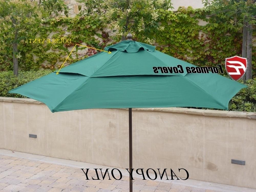 Vented Patio Umbrellas Regarding Preferred Best Patio Umbrella Replacement Canopy Double Vented Replacement (View 3 of 15)