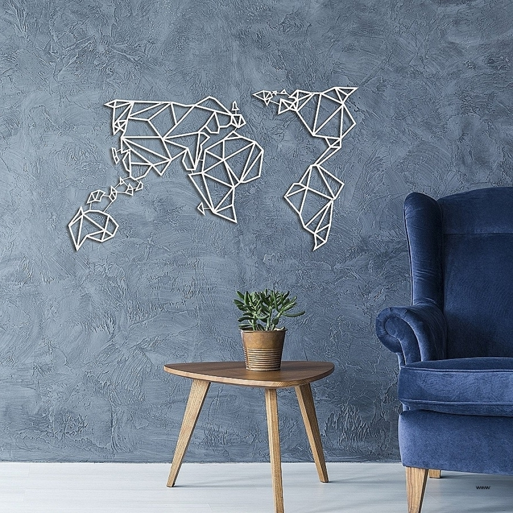 Vertical Metal Wall Art in Best and Newest Vertical Metal Wall Art Unique Wall Ideas Wall Art World Map Inside