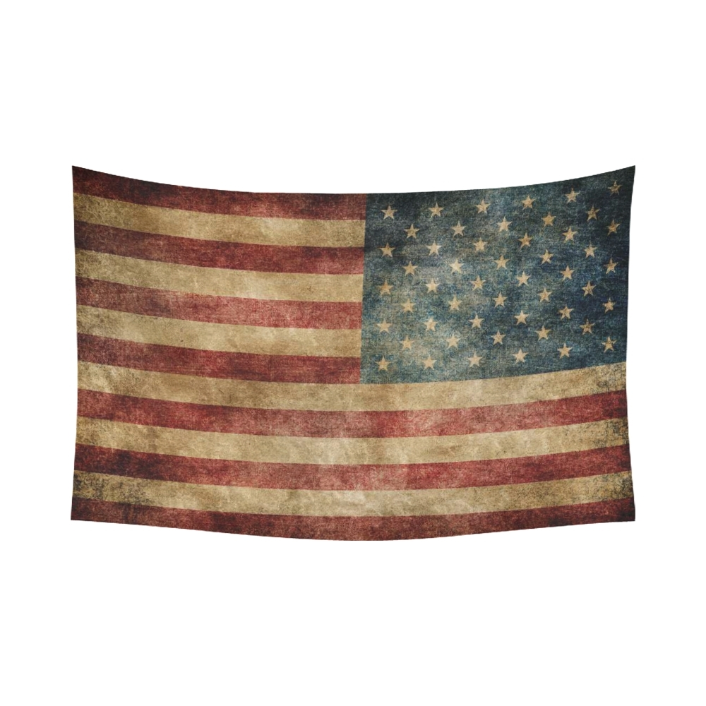 Vintage American Flag Wall Art Pertaining To Most Recent Interestprint Stars And Stripes Usa Flag Wall Art Home Decor (View 11 of 15)