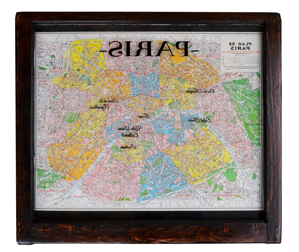 Vintage Paris Map Wall Art Window Art Within Preferred Map Of Paris Wall Art (Gallery 2 of 15)