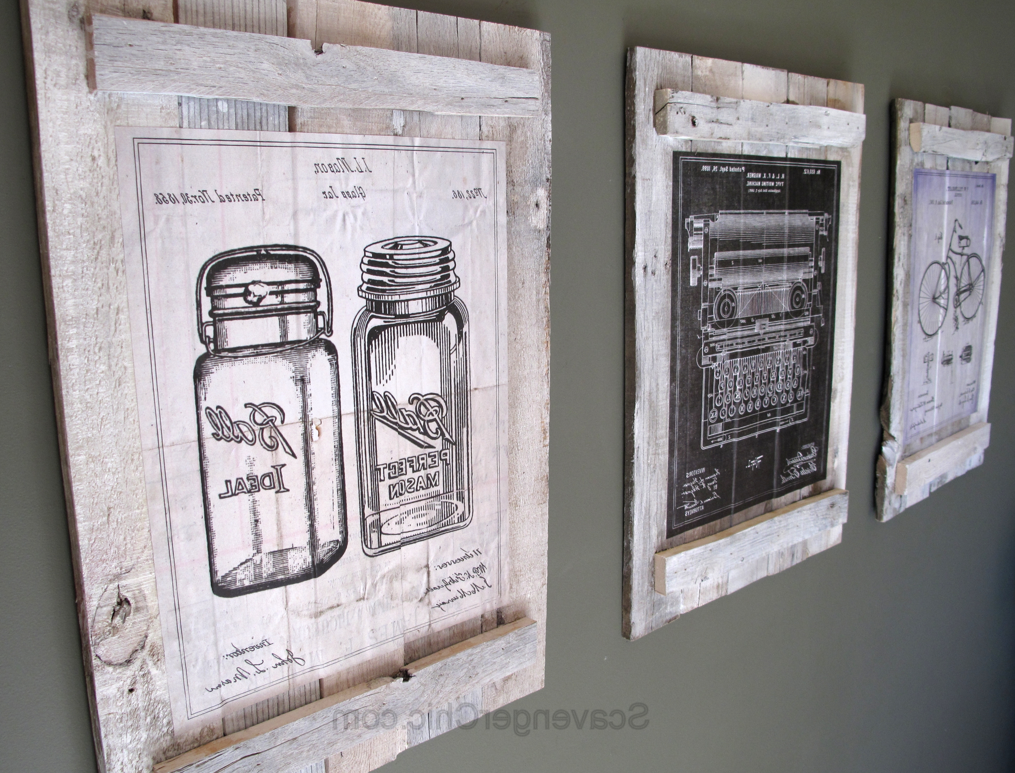 Vintage Wall Art inside Favorite Pallets And Calendars Diy Wall Art – Scavenger Chic