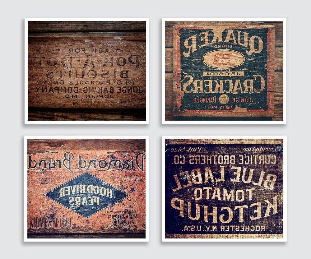 Vintage Wall Art regarding Favorite Wall Art Designs: Vintage Wall Art For Kitchen Design, Vintage Wall