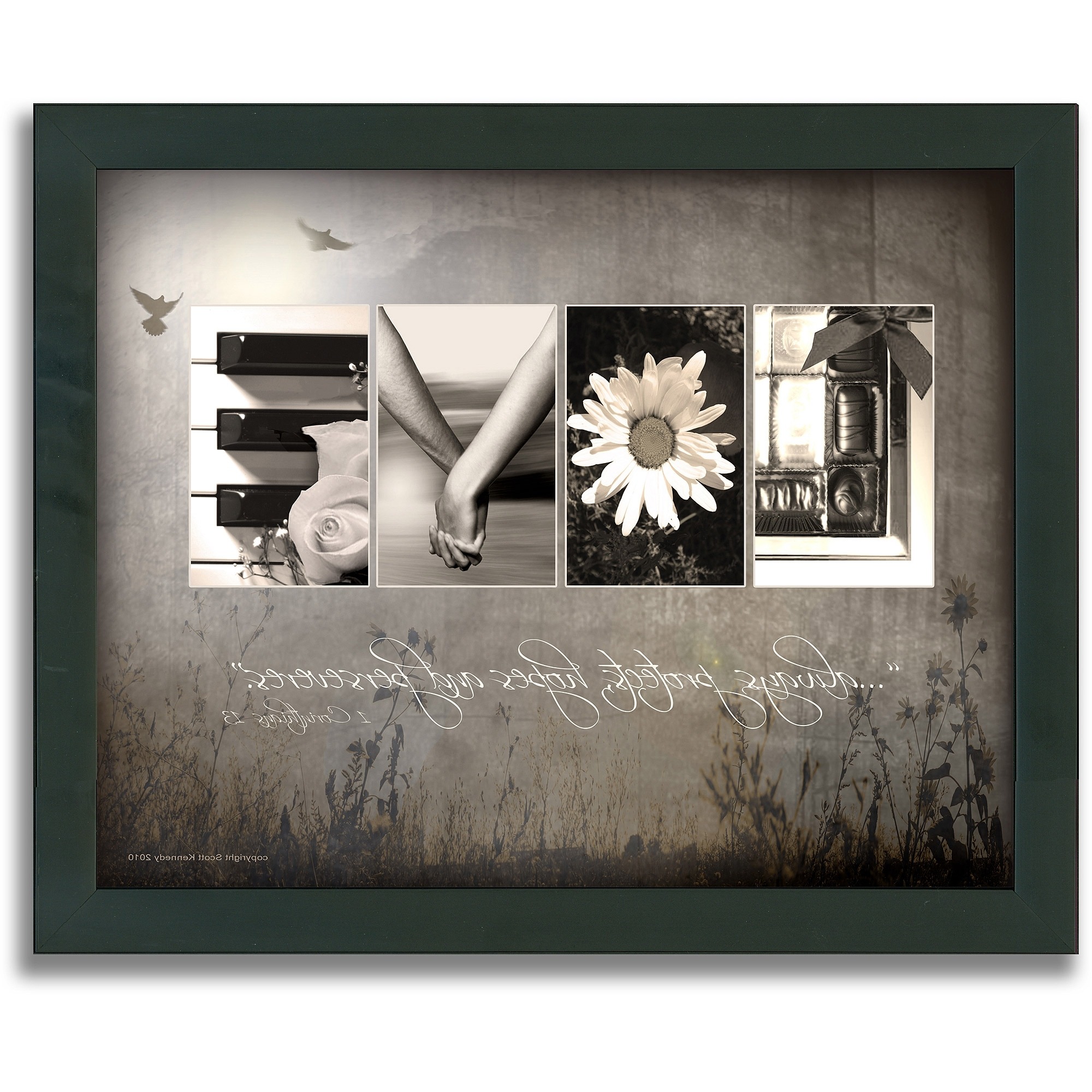 Wall Art At Walmart Within Recent Personal Prints Love Letters Framed Canvas Wall Art – Walmart (View 6 of 15)