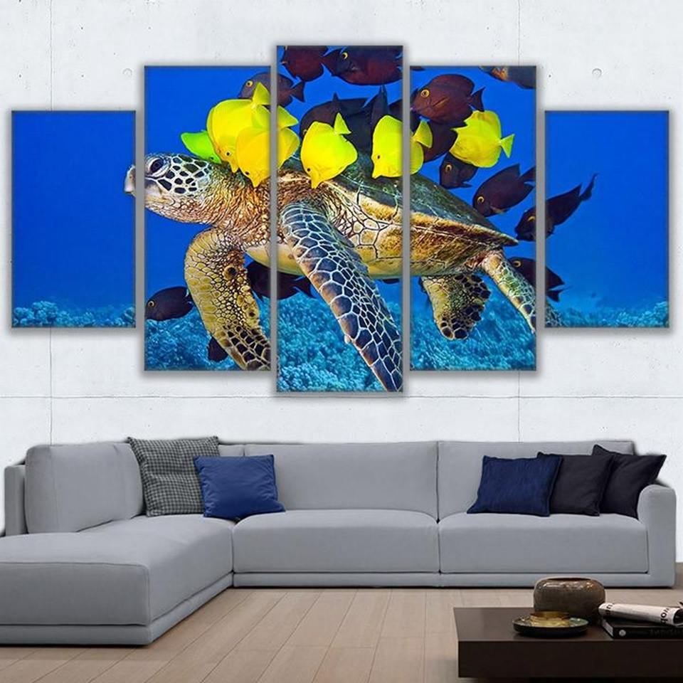 Wall Art Canvas Hd Prints Pictures Framework Home Decor Living Room Pertaining To Most Recent Sea Turtle Canvas Wall Art (View 5 of 15)