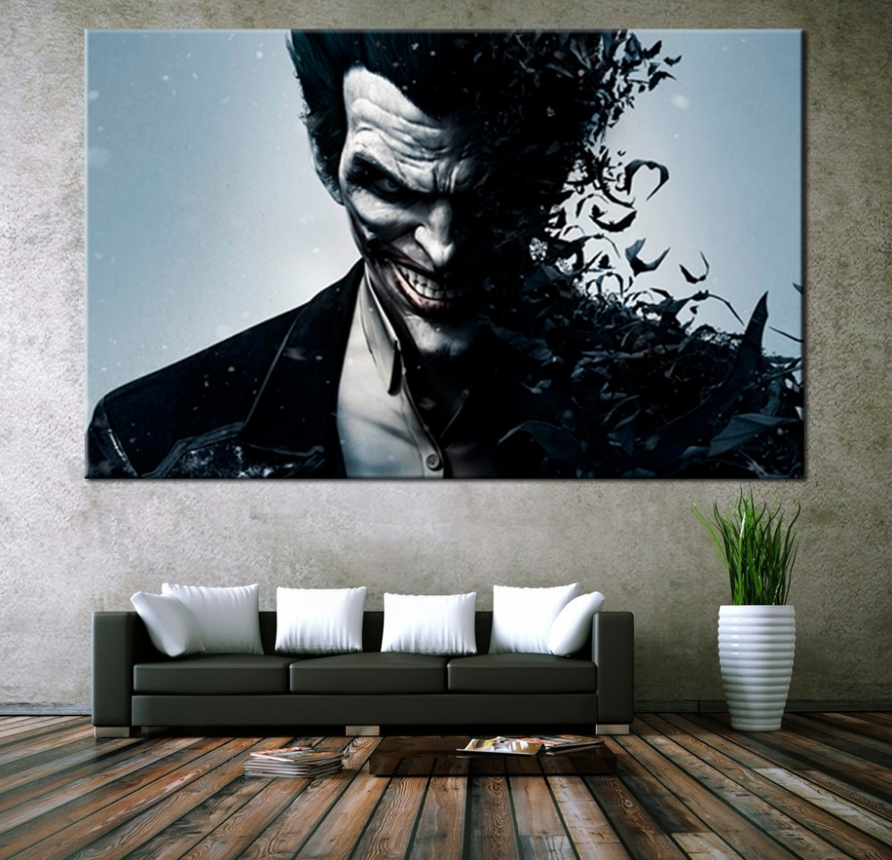 Wall Art Canvas Movie Poster Batman Joker Poster Print On Canvas Within Most Popular Wall Art Canvas (View 11 of 15)
