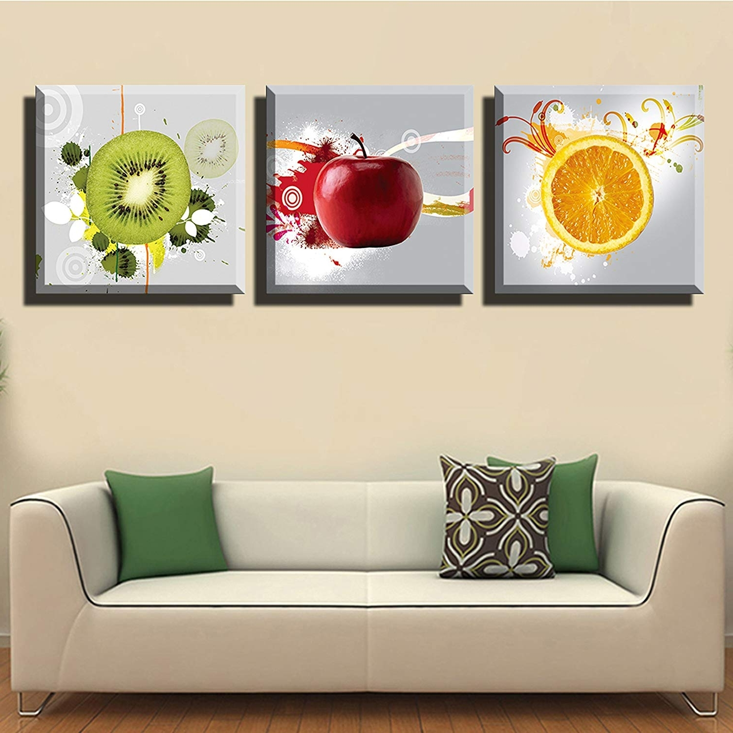 Wall Art Canvas Pertaining To Fashionable Amazon: Lyglo Canvas Prints – Bright And Vibrant Fruit Canvas (View 12 of 15)