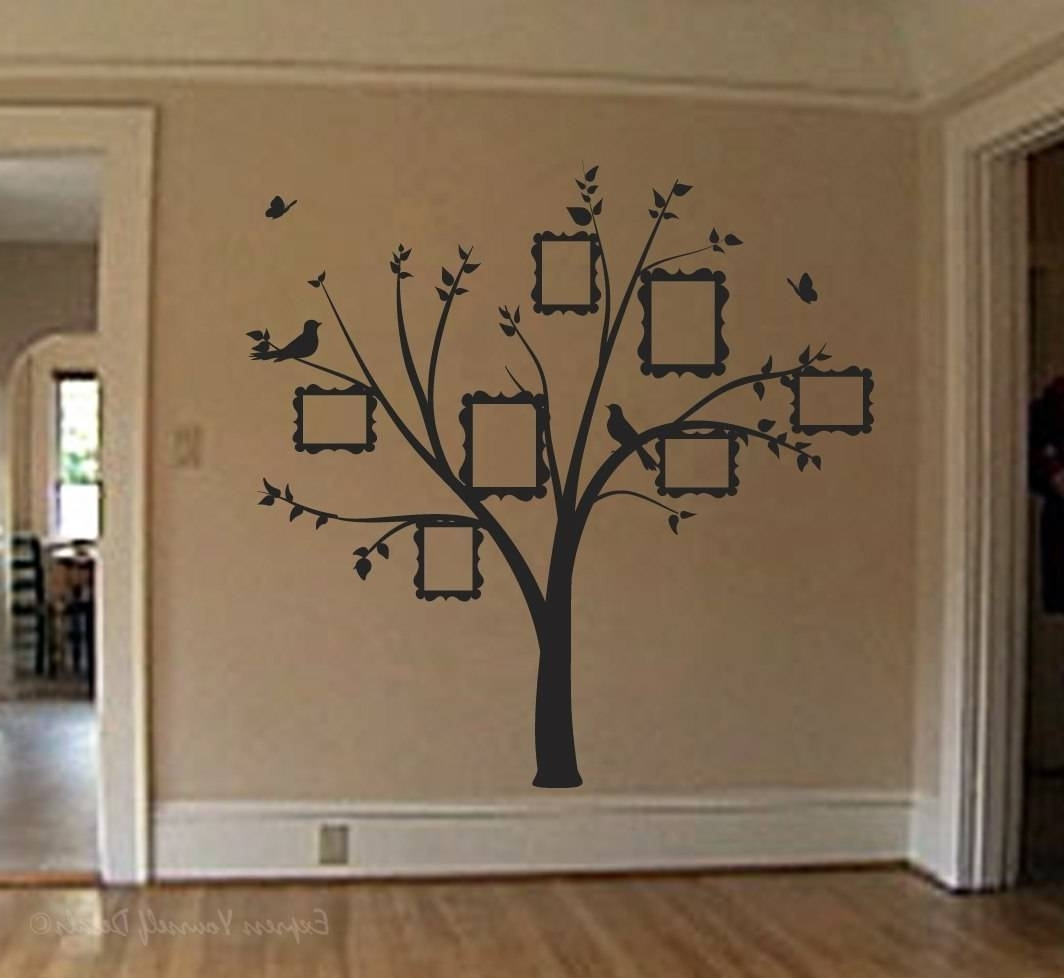 Wall Art Decal Sticker Pertaining To Current Tree Wall Art (View 10 of 15)