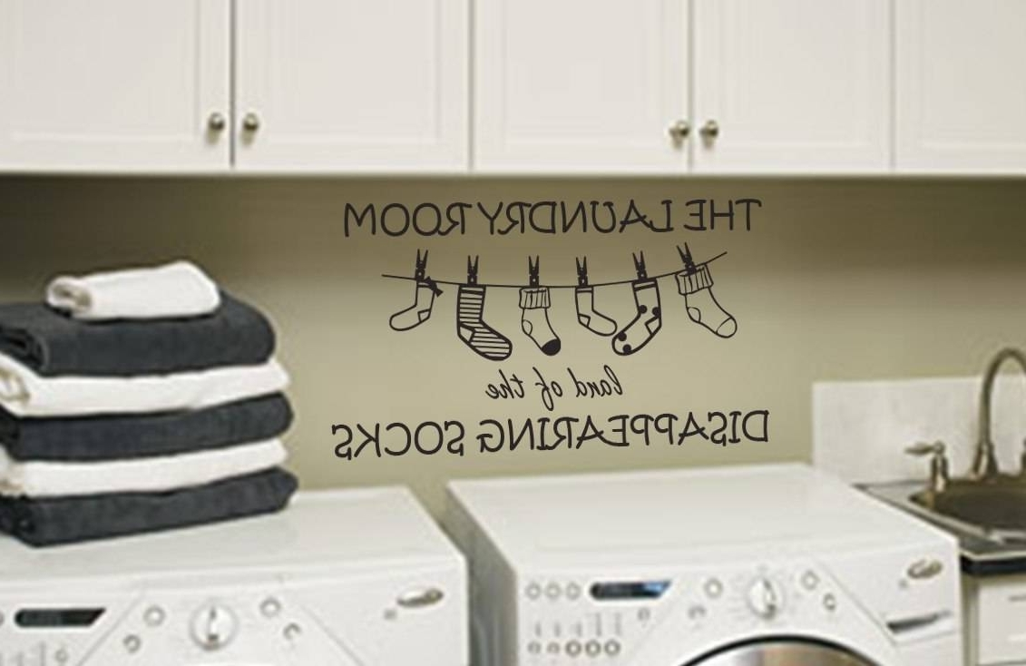 Wall Art Decal Sticker With Regard To Popular Laundry Room Wall Art (View 14 of 15)