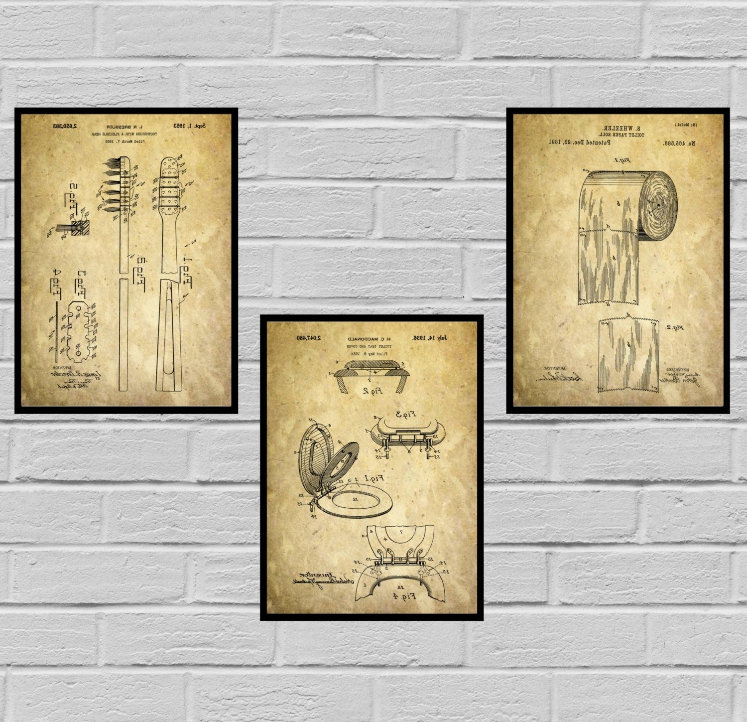 Wall Art For Bathroom Inside Current Bathroom Poster, Bathroom Art, Bathroom Decor, Bathroom Art, Toilet (View 11 of 15)