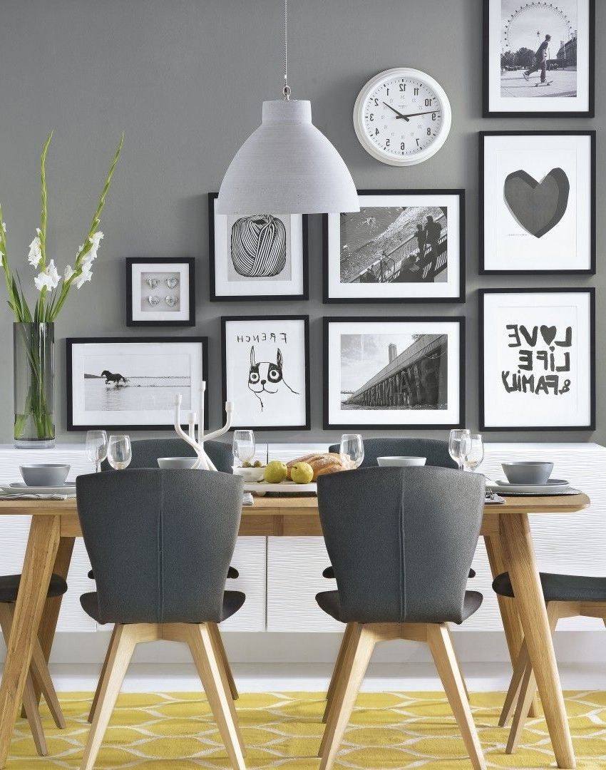 Wall Art For Dining Room Within 2017 Grey Modern Dining Room With Wonderful Wall Decor Follow Adorable (View 15 of 15)