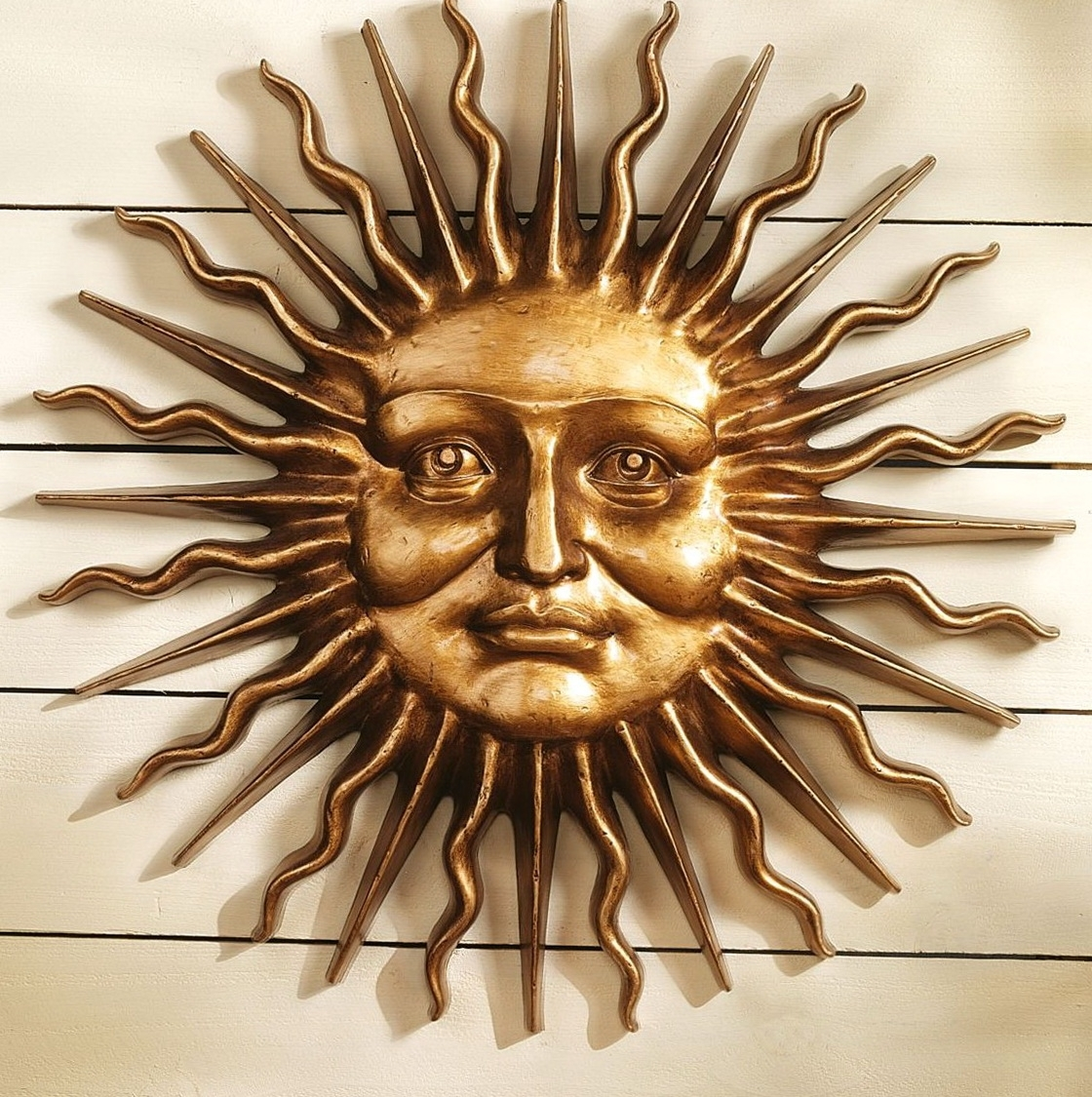 Wall Art Ideas Design : Faces Sun Wall Art Metal Classic Themes In Favorite Outdoor Sun Wall Art (View 14 of 15)