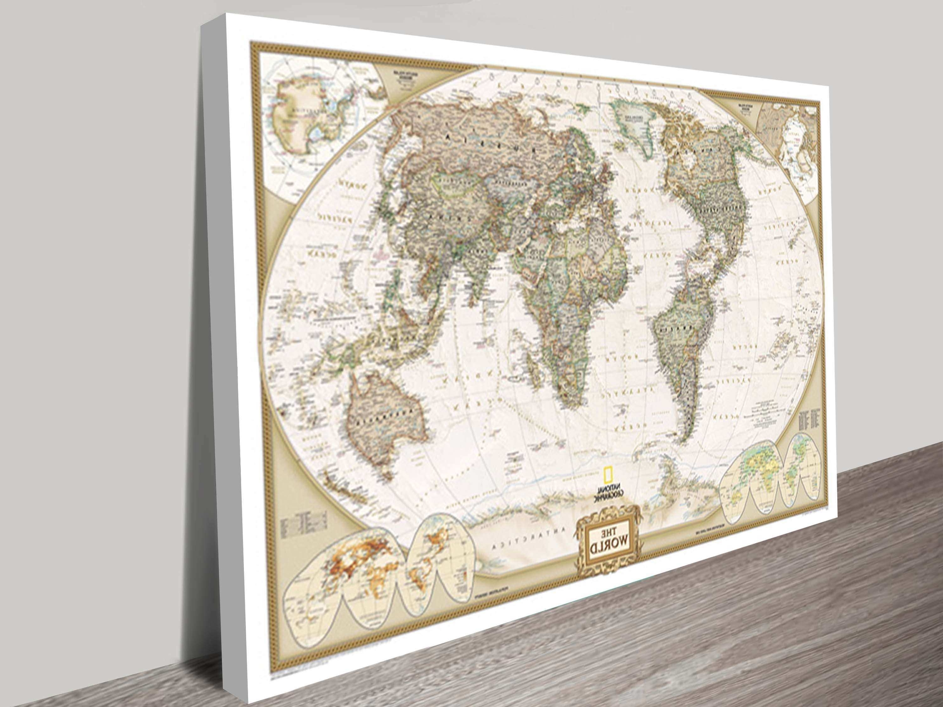 Wall Art Ideas Regarding Map Wall Art Prints (View 12 of 15)