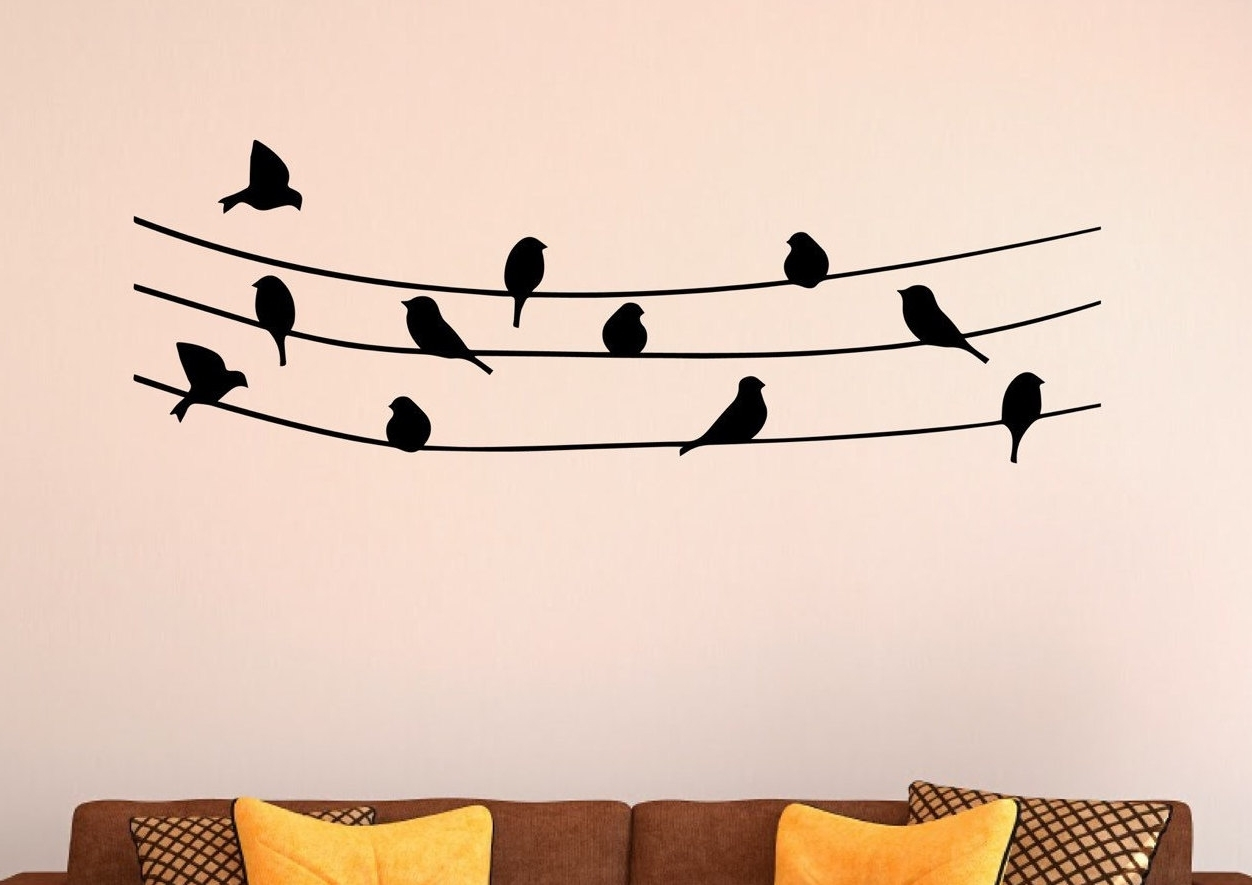 Wall Art In Fashionable Birds On A Wire Wall Art (View 13 of 15)