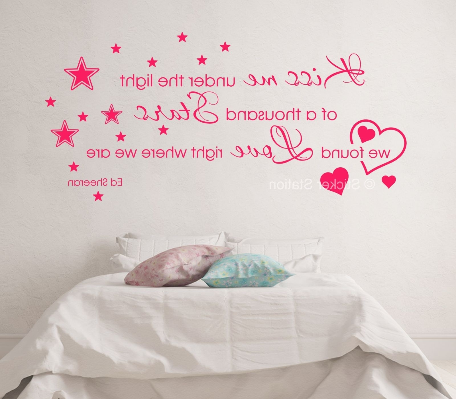 Wall Art Intended For Trendy Ed Sheeran Thinking Out Loud – Kiss Me Song Lyrics Wall Art Sticker (View 9 of 15)