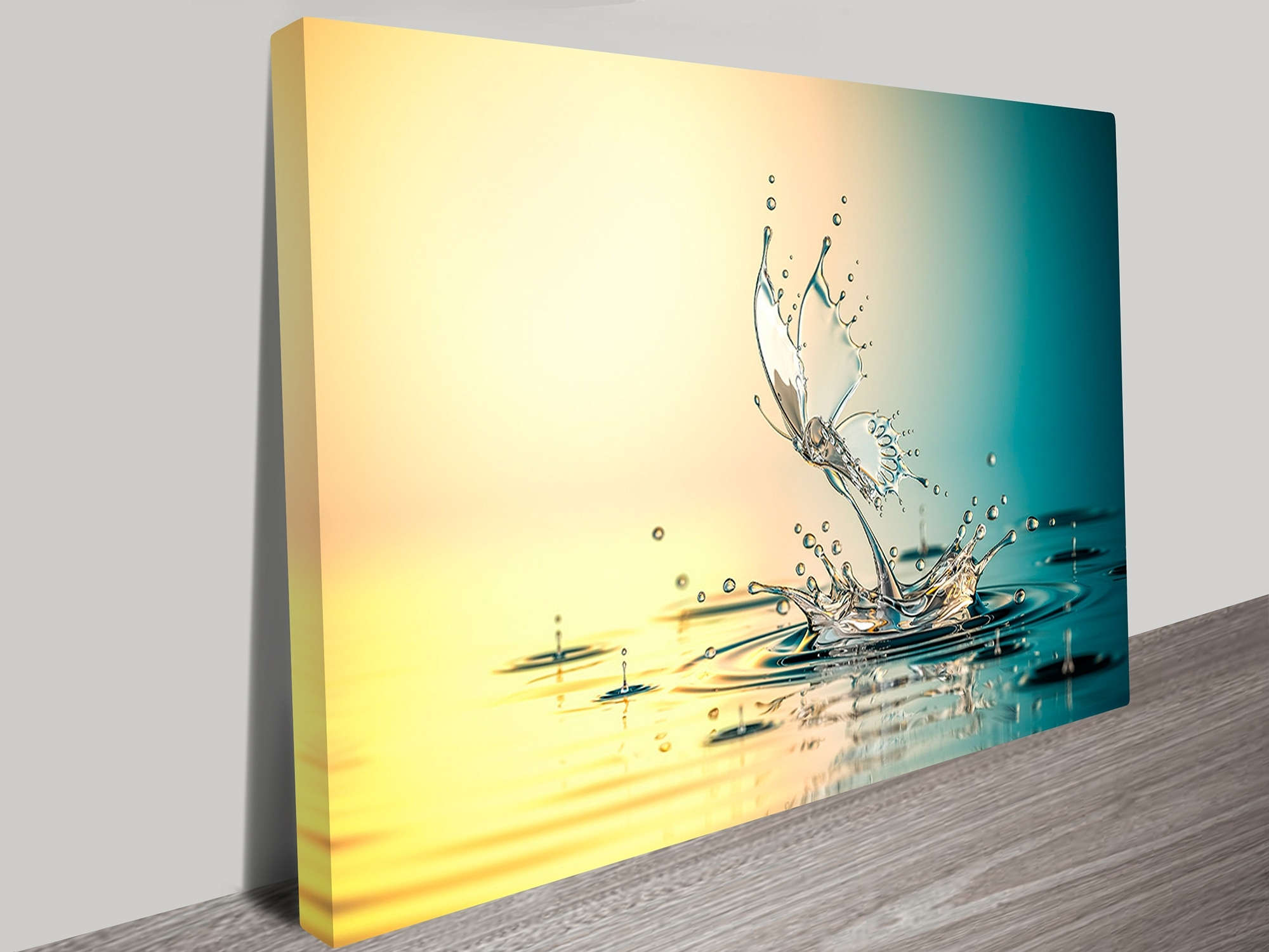 Wall Art Prints With Regard To Well Liked Butterfly Water Drops Abstract Canvas Prints Australia (View 6 of 15)