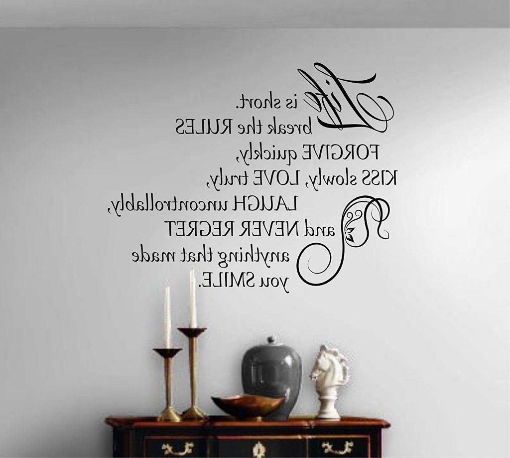 Wall Art Quotes With Regard To Well Known Quotes For Wall Decoration – Blogtipsworld (View 10 of 15)