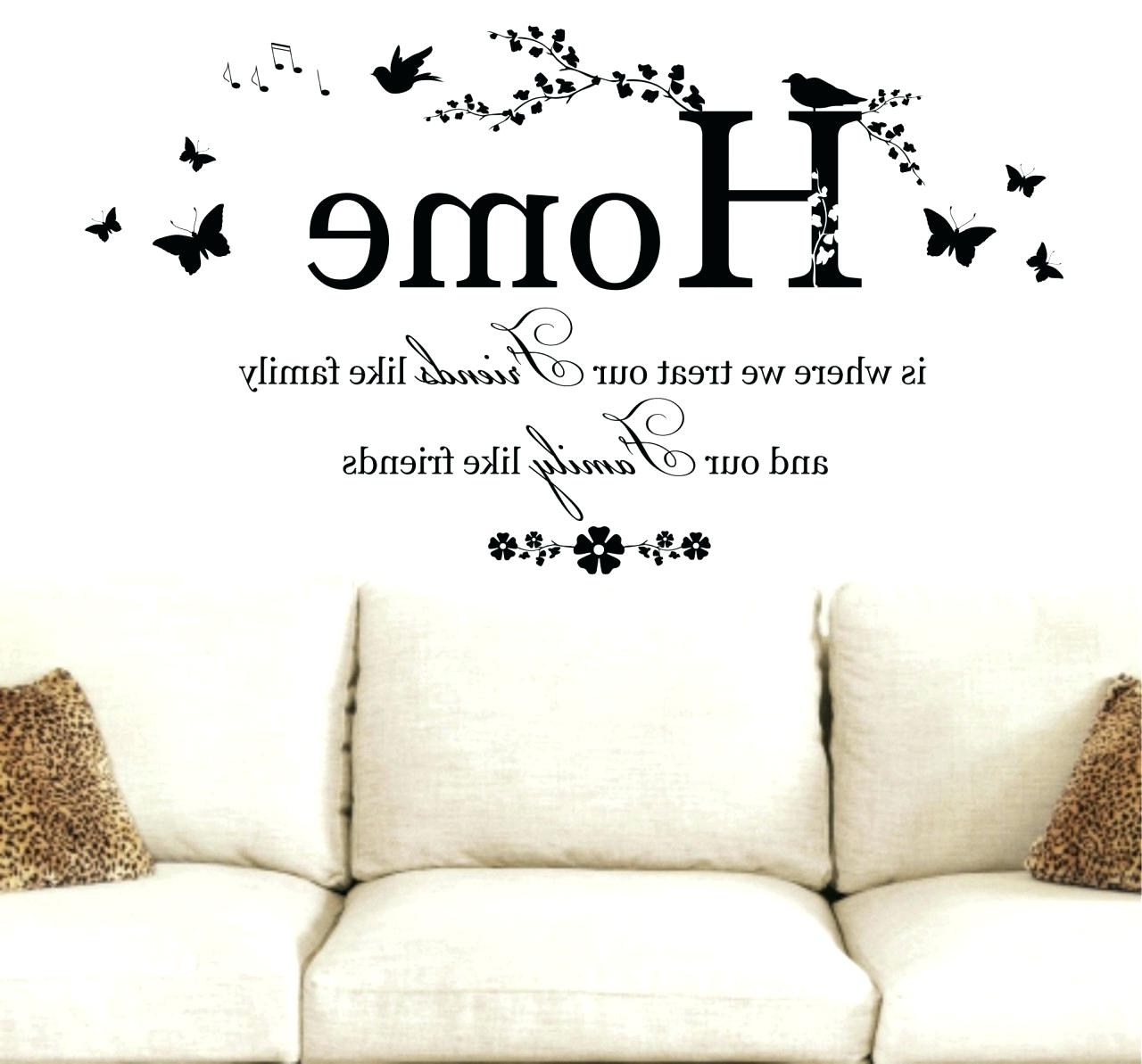 Wall Art Sayings For Most Up To Date Disney Wall Quotes Decals Wall Arts Family Sayings Wall Art Sayings (View 12 of 15)