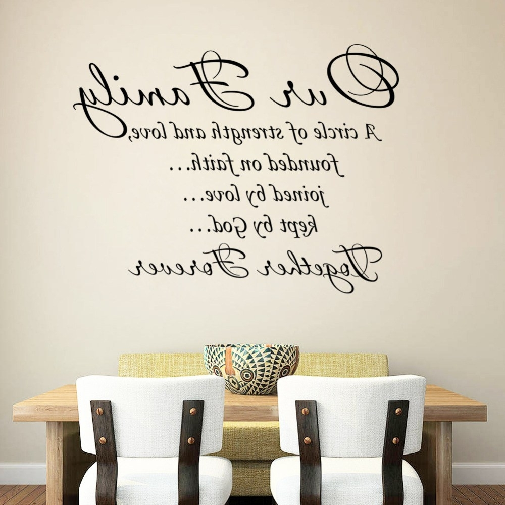 Wall Art Sayings In Fashionable Distinguished Family Sayings Wall Decor 6 C Our Family To Her (View 13 of 15)
