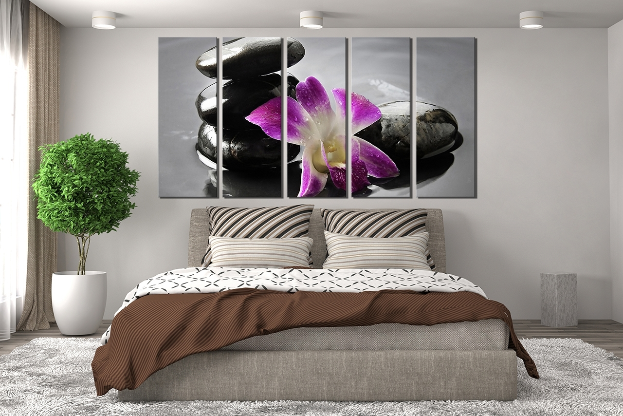Wall Art Throughout 2017 Purple Canvas Wall Art Large : Andrews Living Arts – Pretty Purple (View 2 of 15)