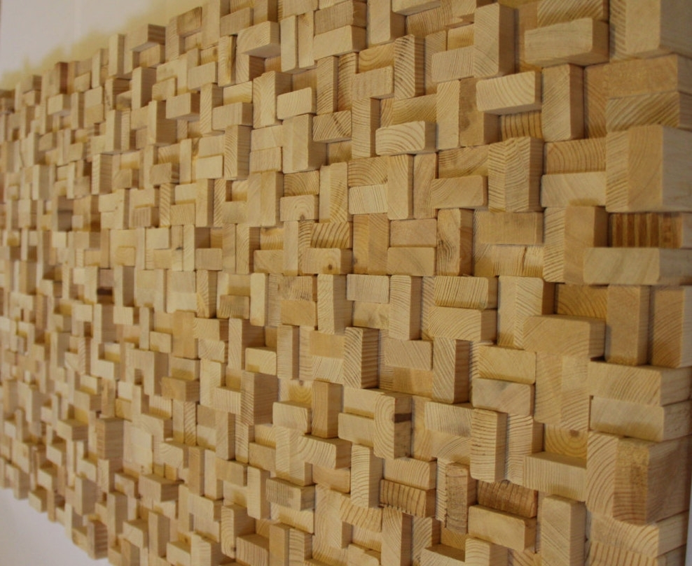 Wall Art With Regard To Trendy Buy Rustic Reclaimed Wood Wall Art, Wood Wall Sculpture, Abstract (View 13 of 15)