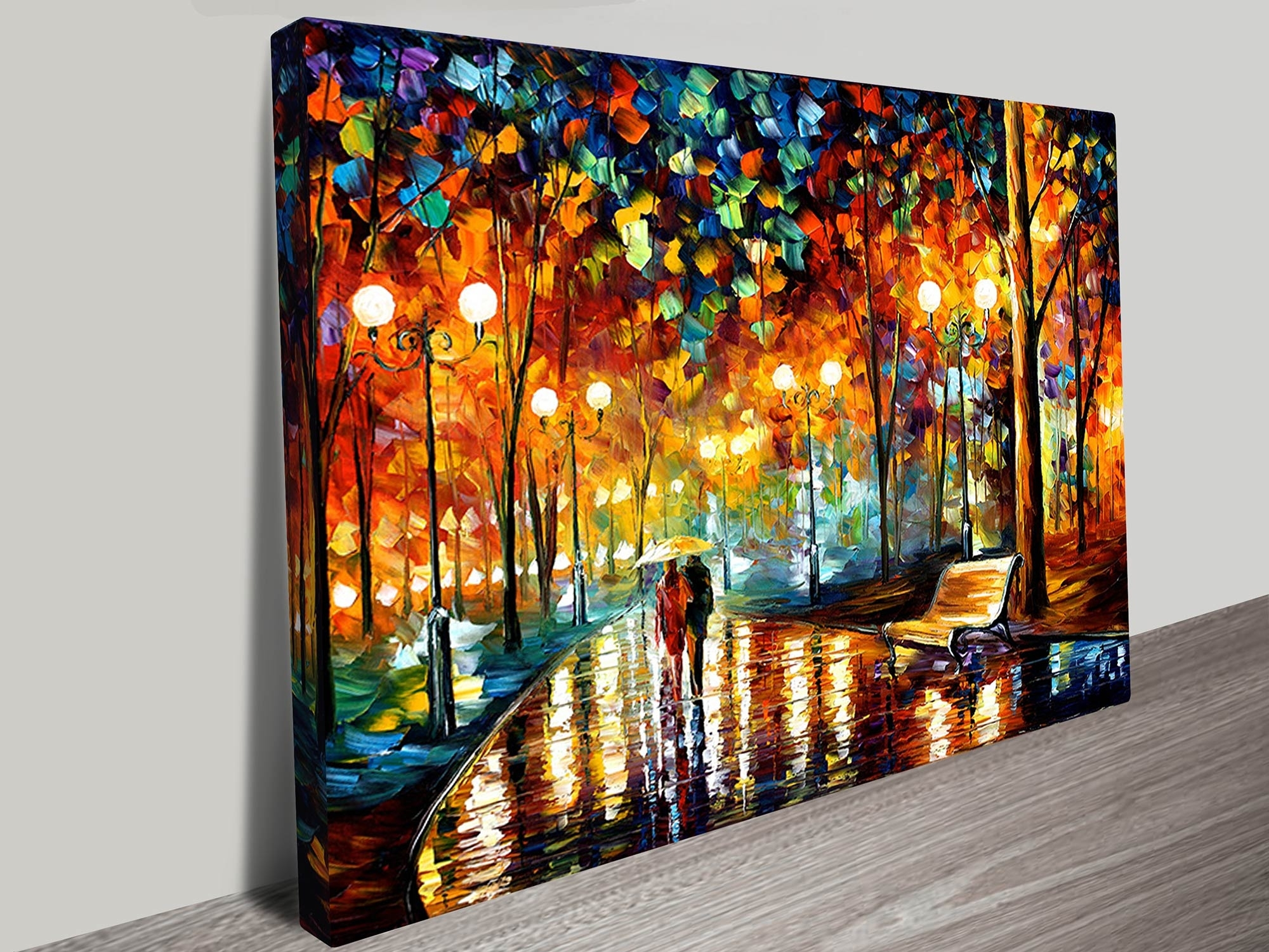 Wall Canvas Art Intended For Trendy Rain Rustle Leonid Afremov Canvas Art Print (View 4 of 15)