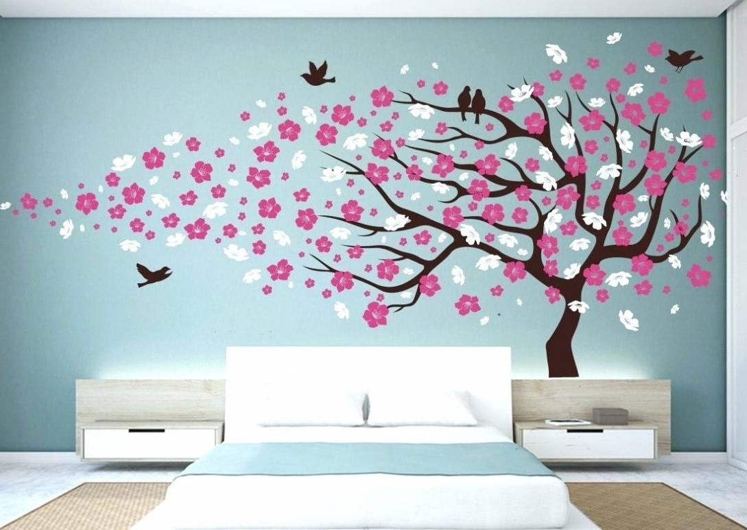 Wall Decal Cherry Blossom Wall Ideas Cherry Blossom Wall Decor In Best And Newest Cherry Blossom Wall Art (View 13 of 15)
