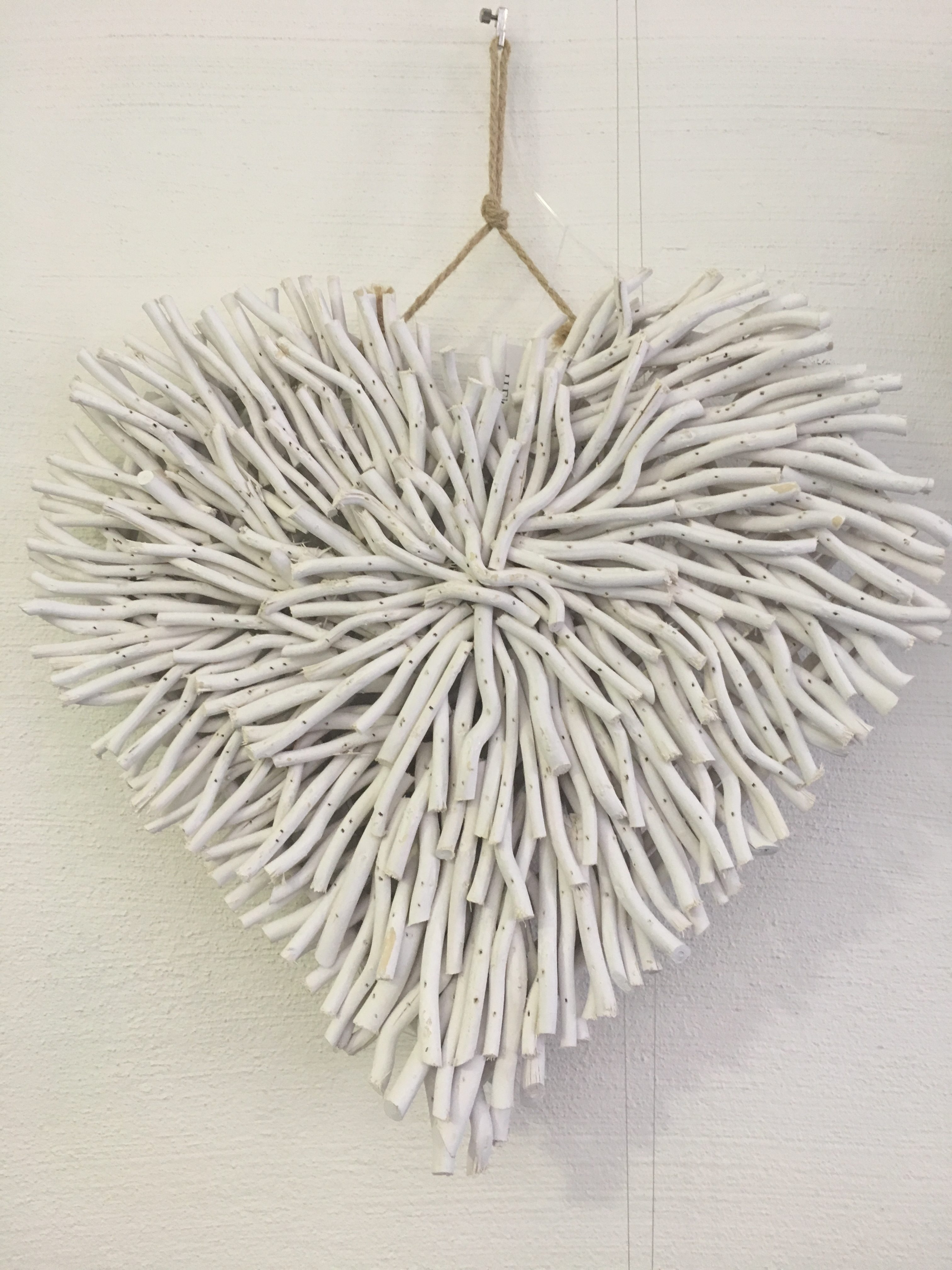 Wall Decor – Driftwood Heart White – Daydream Leisure Furniture Pertaining To Most Recently Released Driftwood Wall Art (View 4 of 15)