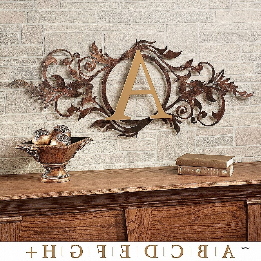 Wall Decor: Iron Monogram Wall Decor Unique Meglynn Monogram With Newest Monogram Wall Art (View 14 of 15)