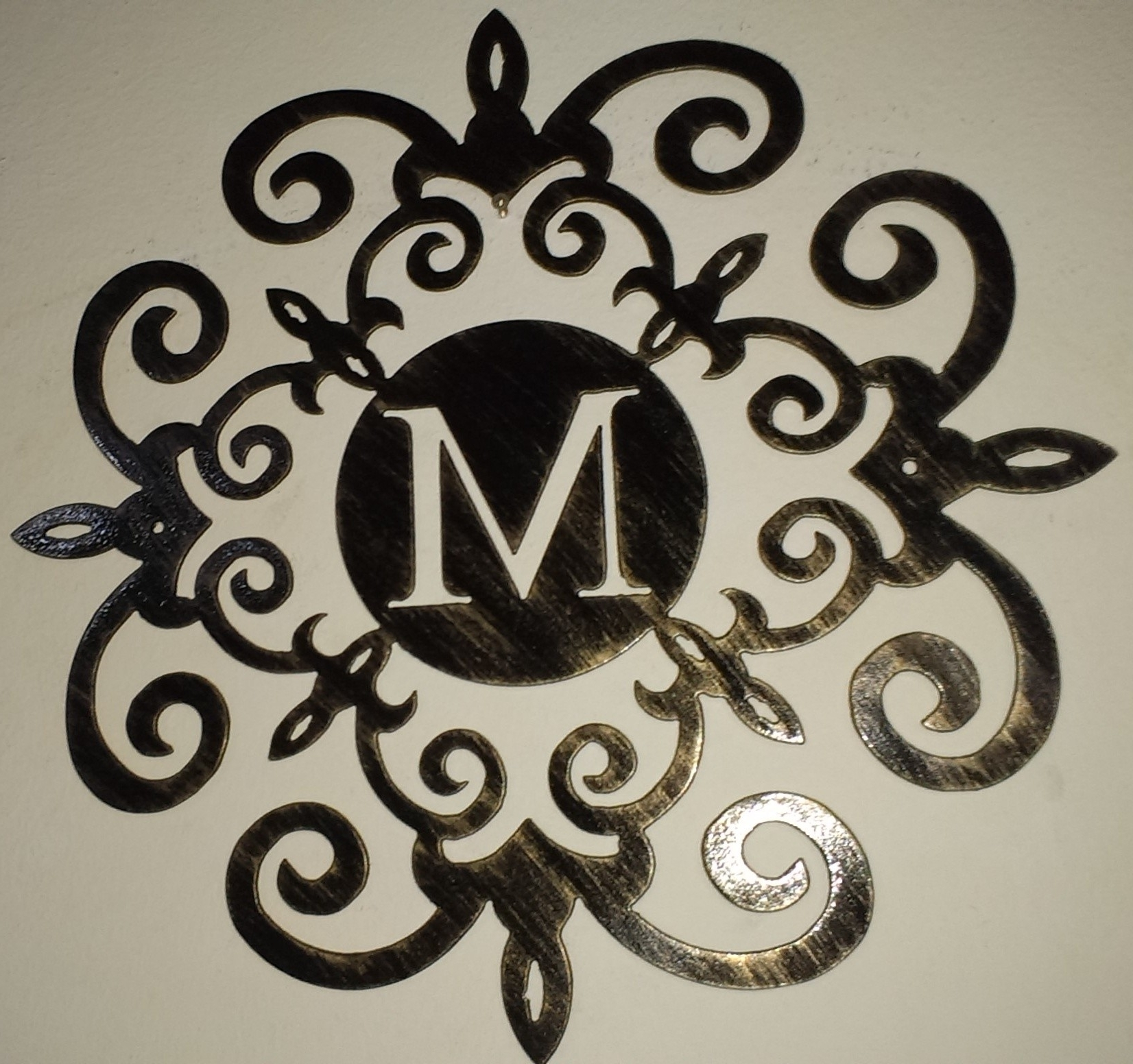 Wall Plate Design Ideas Monogram Initial With Regard To Monogram Wall Art (View 15 of 15)