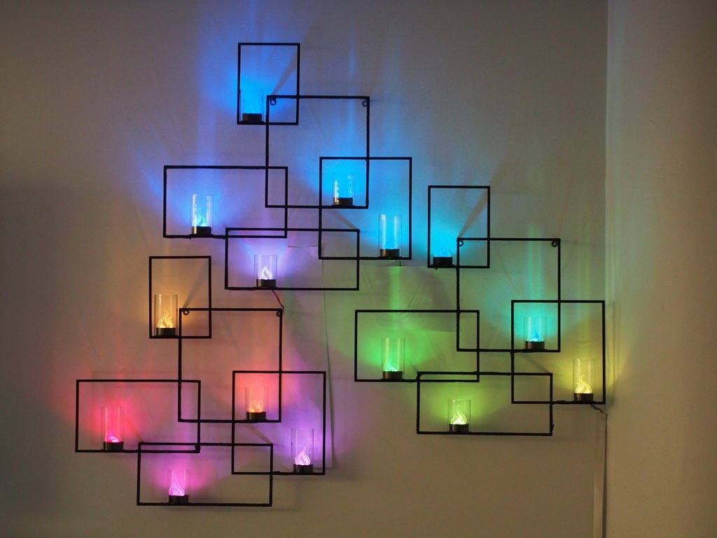Wall Sconces With Hidden Weather Display And Tangible User Interface Inside Well Known Led Wall Art (View 13 of 15)