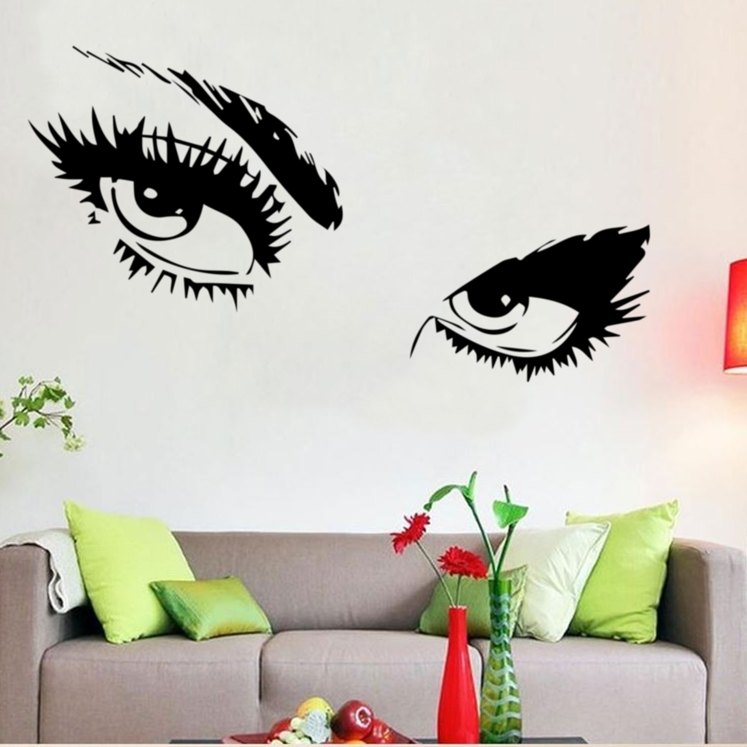 Wall Sticker Art Intended For 2017 Audrey Hepburn Sexy Eyes / Attractive Eye Wall Decal Art Decor (View 10 of 15)