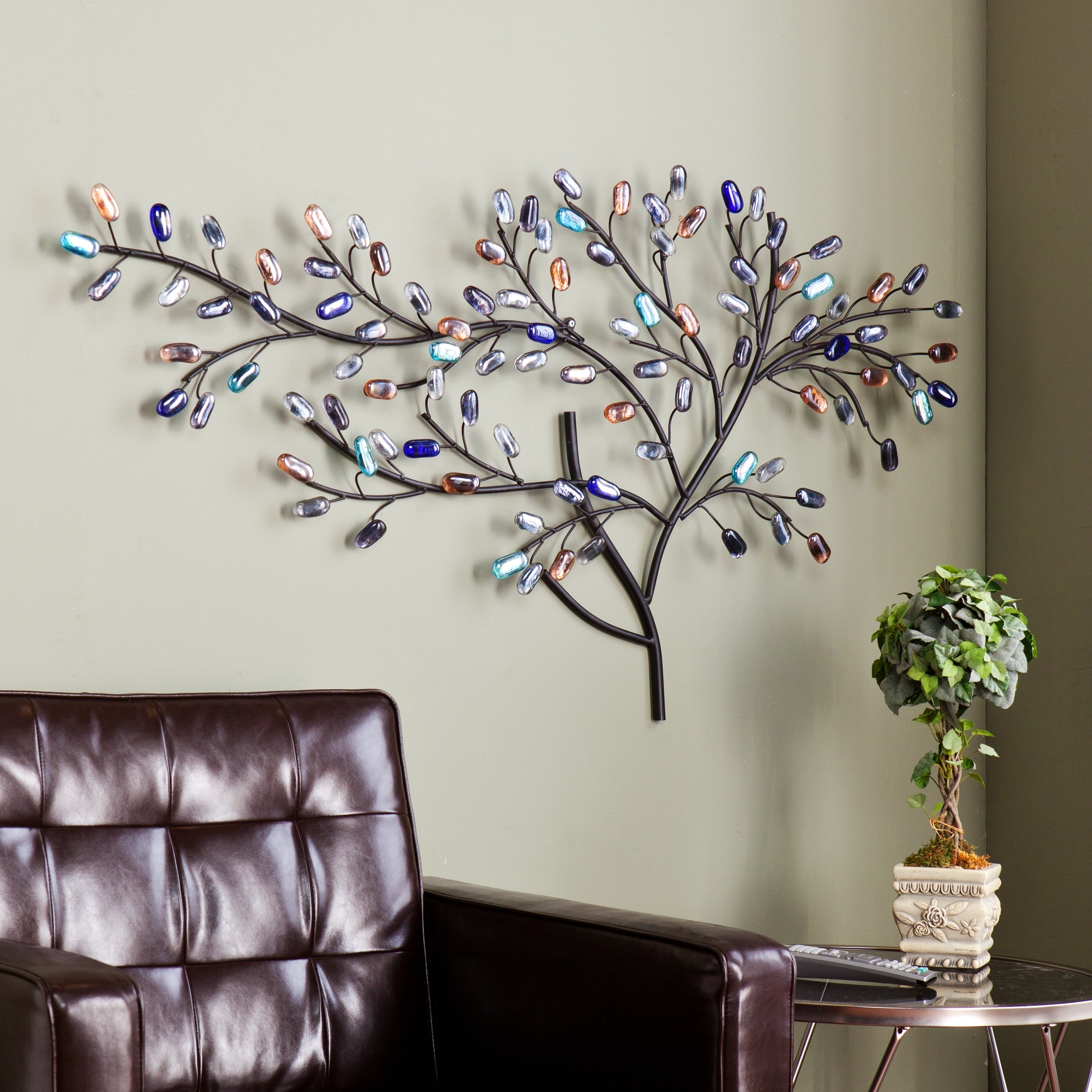 Wall Tree Art Pertaining To Well Known Harper Blvd Willow Multicolor Metal/ Glass Tree Wall Sculpture (View 5 of 15)