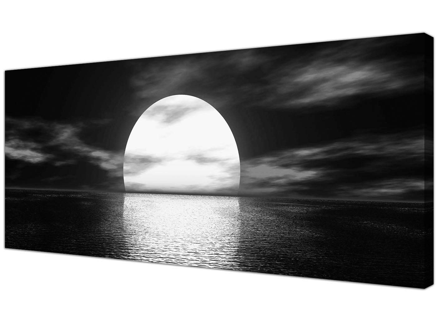 Wallfillers Modern Black And White Canvas Wall Art Of A Tropical With Regard To Trendy Black And White Canvas Wall Art (View 6 of 15)