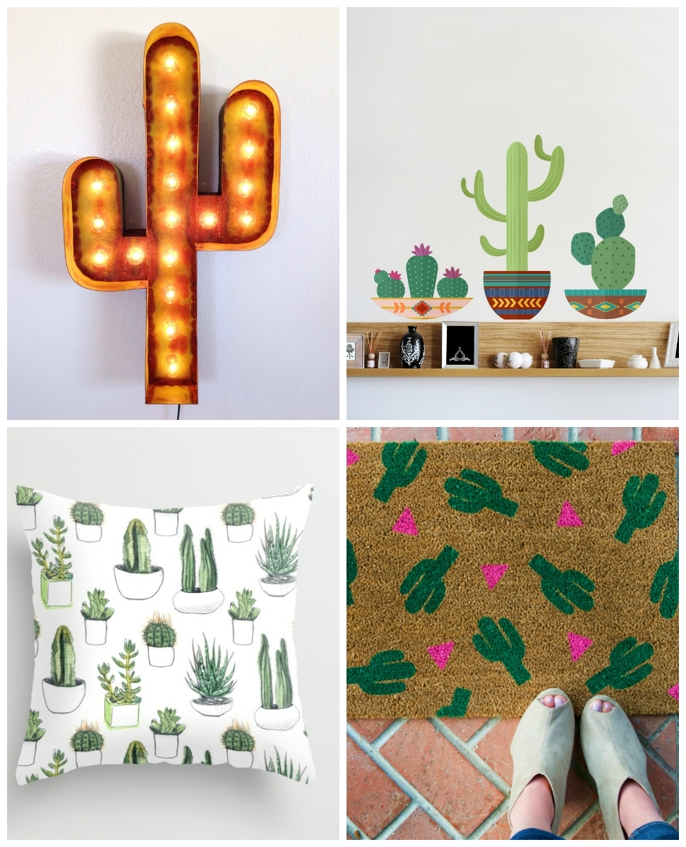 Wallums Wall Decor Pertaining To Cactus Wall Art (View 15 of 15)