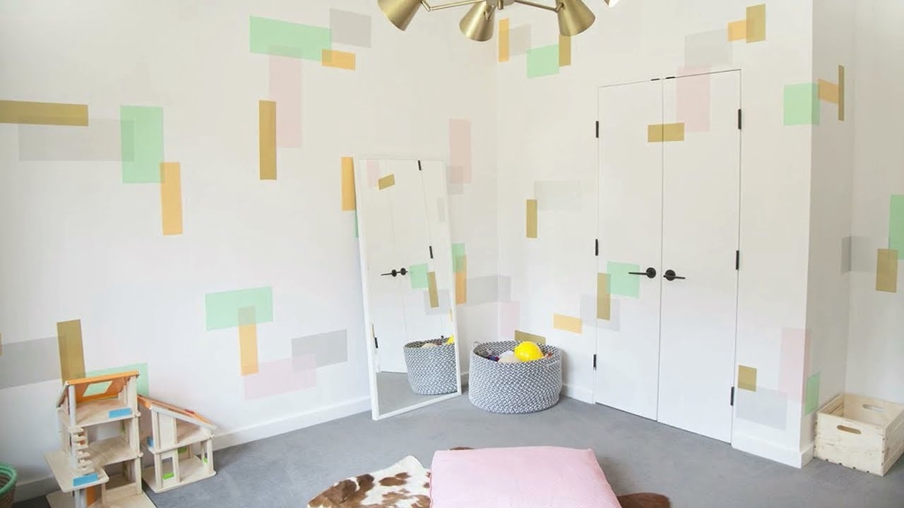 Washi Tape Wall Art In The Playroom – Youtube Intended For Latest Washi Tape Wall Art (View 9 of 15)
