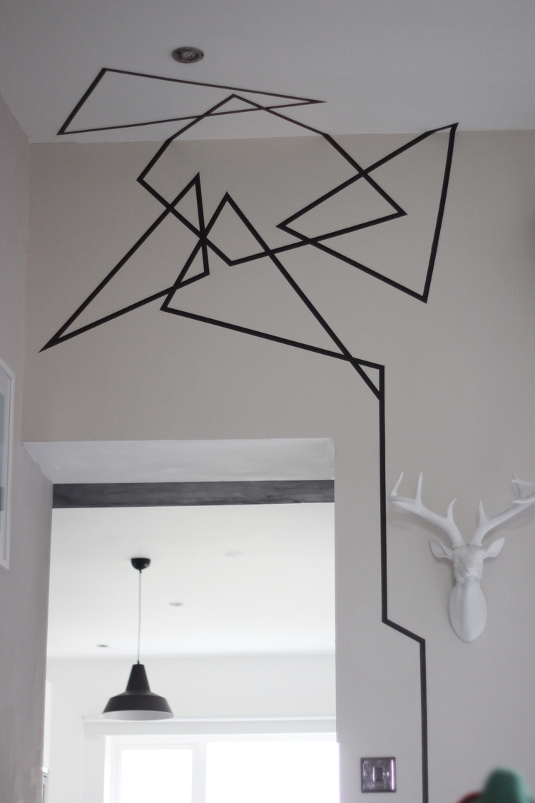 Washi Tape Wall Art Inside Latest Washi Tape Wall Art – Bigdiyideas (View 4 of 15)